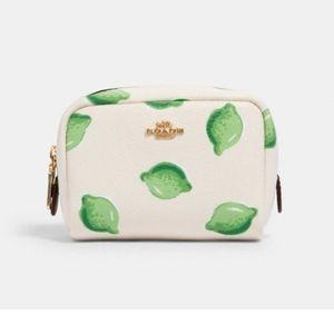 💜NWT Coach mini Boxy Cosmetic Case w/t Lime Print